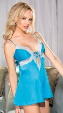 Silky Charmeuse and Lace Babydoll