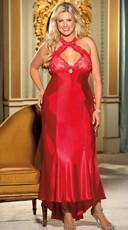 Plus Size Satin Night Gown