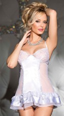 Delicate Sheer Burnout Embroidery Chemise