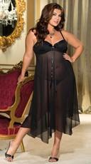 Plus Size Long Sparkle Chiffon Gown