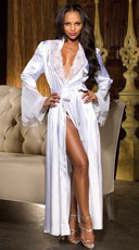 Satin and Chiffon Robe
