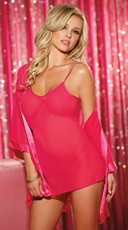 Steamy Nights Mini Chemise with Robe