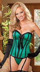 Pleated Ribbon and Satin Corset