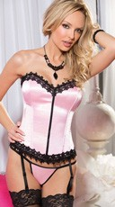 Satin And Venice Trim Corset