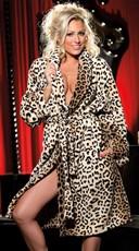 Leopard Print Fluffy Robe