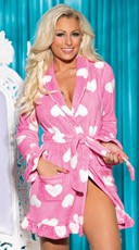 Fluffy Heart Robe