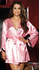 Silky Chemise Set with Robe