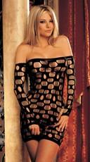 Open Hole Net Dress