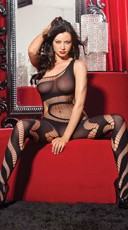 One Shoulder Swirl Strappy Bodystocking