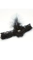 Black Feather Garter