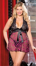 Plus Size Large Polka Dot Net Baby Doll