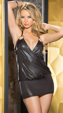 Shiny Metallic Knit Chemise
