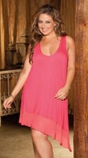 Plus Size Sexy Soft Knit Gown