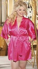 Plus Size Sexy Charmeuse Robe/Kimono