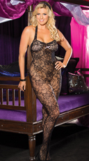 Plus Size Lace Halter Bodystocking
