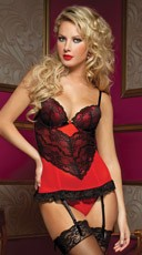 Naughty Little Secret Lace And Mesh Bustier
