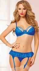 Ethereal Sapphire Blue Bra Set