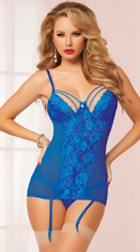 Ethereal Sapphire Blue Chemise Set