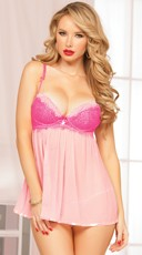 Dainty Doll Pink Babydoll Set