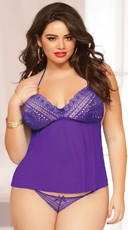 Plus Size Purple Goddess Camidoll Set