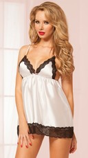 Satin and Lace Babydoll Set