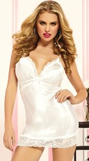 Satin and Lace Chemise Set