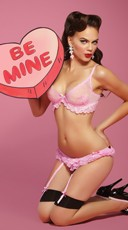 Be Mine Pink Bra and Panty Set