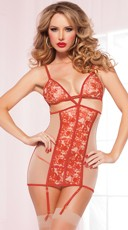Red Rose Darling Chemise