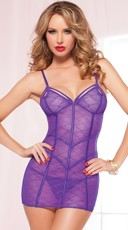 Pretty In Purple Chemise Set