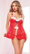 Sexy Miss Santa Babydoll Set