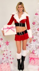 Santa Skirt and Jacket Set
