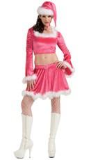 Sexy Pink Miss Santa Costume
