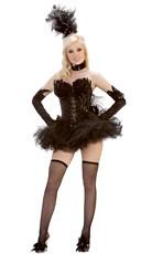 Deluxe Sequin Black Swan Costume