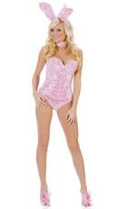 Deluxe Pink Sequin Bunny Costume