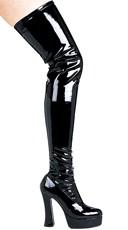 "5"" Chunky Heel Thigh High Boots"