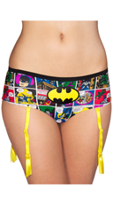 DC Comics Batgirl Comic Art Panty with Garter