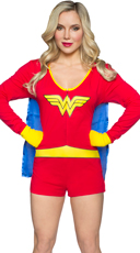 DC Comics Wonder Woman Romper with Cape