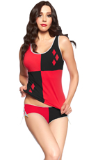 Harley Quinn Cami and Panty Set