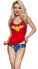 Wonder Woman Ribbed Tank and Panty Set