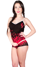 Harley Quinn Mesh Cami and Panty Set