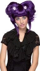 Purple Yuki Updo Wig