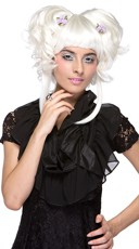 White Layered Yuki Updo Wig