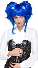 Neon Blue Yuki Updo Wig