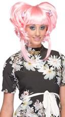 Neon Pink Yuki Updo Wig