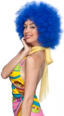 Blue Clown Wig