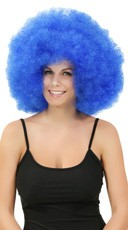 Blue Jumbo Clown Wig