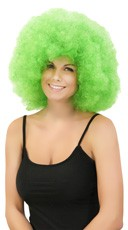 Neon Green Jumbo Clown Wig