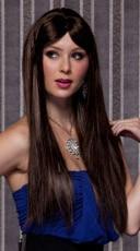 Chocolate Brown Long Straight Wig