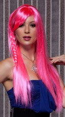 Pink Explosion Long Straight Wig