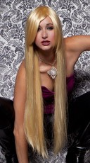 Apricot Blonde Extra Long Straight Wig
